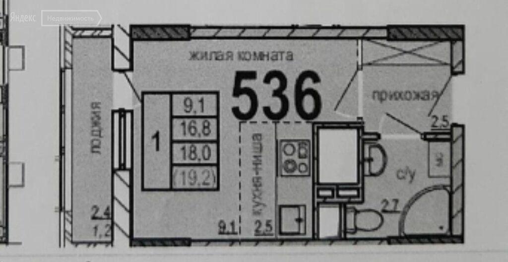 Продажа студии рабочий поселок Новоивановское, бульвар Эйнштейна 1, цена 6300000 рублей, 2021 год объявление №708743 на megabaz.ru