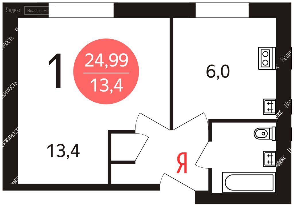 Продажа студии Москва, метро Рязанский проспект, 1-я Новокузьминская улица 16к1, цена 3850000 рублей, 2021 год объявление №693254 на megabaz.ru