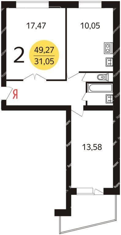 Аренда двухкомнатной квартиры Москва, метро Авиамоторная, Душинская улица 18к1, цена 45000 рублей, 2020 год объявление №1063018 на megabaz.ru
