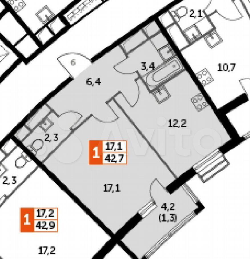 Продажа однокомнатной квартиры поселок Развилка, метро Зябликово, цена 7700000 рублей, 2021 год объявление №696389 на megabaz.ru