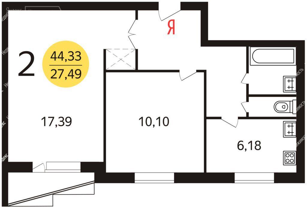 Продажа двухкомнатной квартиры Москва, метро Черкизовская, Щёлковское шоссе 11, цена 11500000 рублей, 2021 год объявление №700362 на megabaz.ru