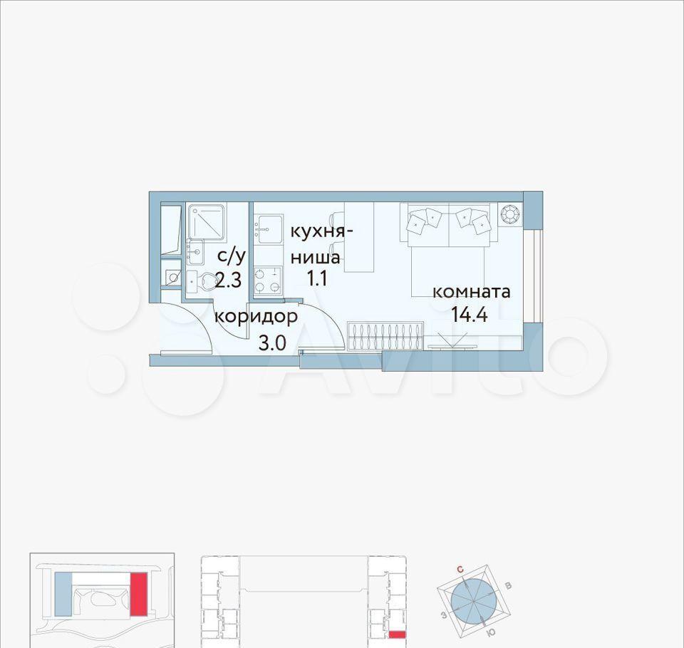 Продажа студии Москва, метро Римская, цена 9300000 рублей, 2021 год объявление №702415 на megabaz.ru