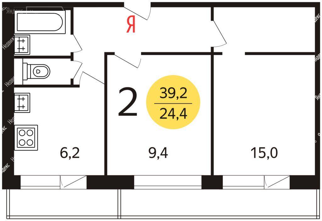 Аренда двухкомнатной квартиры Москва, метро Коломенская, Судостроительная улица 25к2, цена 39000 рублей, 2021 год объявление №1481793 на megabaz.ru