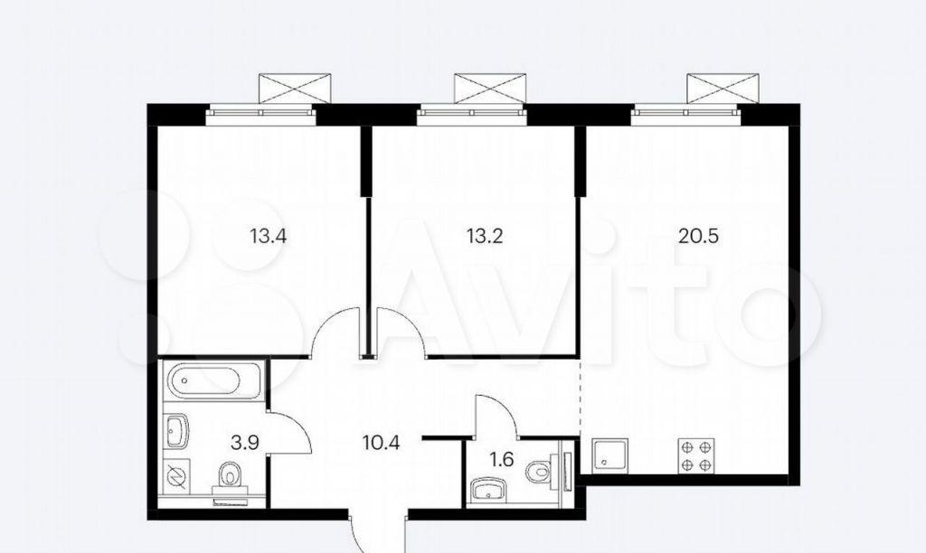 Аренда двухкомнатной квартиры поселок Ильинское-Усово, Архангельская улица 2, цена 52000 рублей, 2021 год объявление №1482575 на megabaz.ru