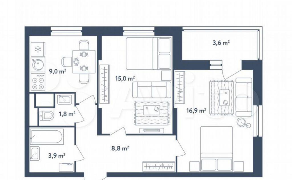 Продажа двухкомнатной квартиры Москва, метро Алтуфьево, Илимская улица 3к1, цена 13200000 рублей, 2021 год объявление №707013 на megabaz.ru