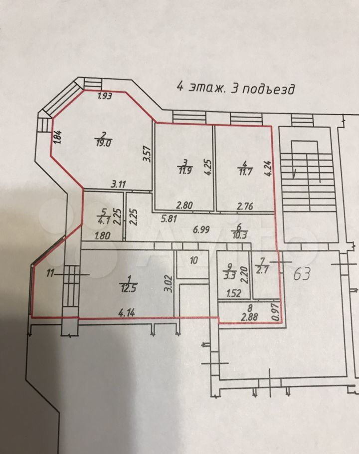 Продажа трёхкомнатной квартиры Бронницы, улица Соловьиная Роща 3, цена 7500000 рублей, 2021 год объявление №707769 на megabaz.ru