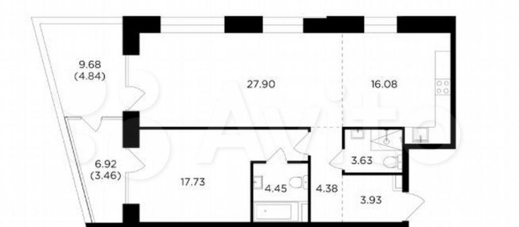 Продажа трёхкомнатной квартиры Москва, метро Автозаводская, цена 41153555 рублей, 2021 год объявление №708427 на megabaz.ru