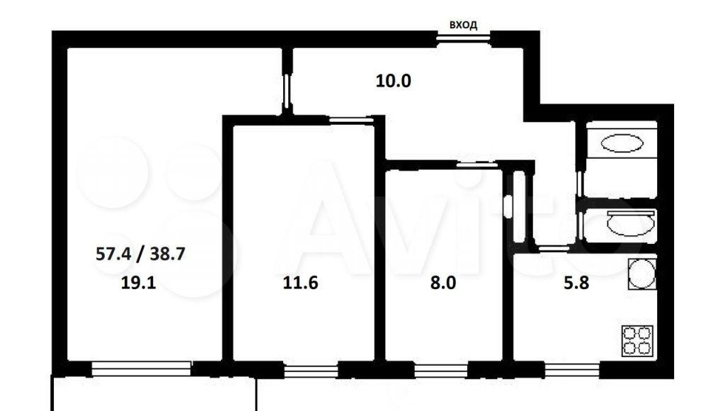 Продажа трёхкомнатной квартиры Москва, метро Планерная, Планерная улица 26с1, цена 14000000 рублей, 2021 год объявление №709178 на megabaz.ru