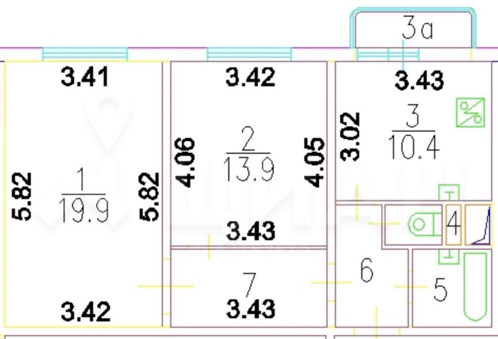 Продажа двухкомнатной квартиры Москва, метро Алексеевская, Маломосковская улица 21к3, цена 16900000 рублей, 2020 год объявление №382644 на megabaz.ru