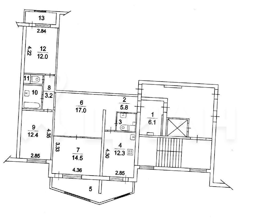 Продажа трёхкомнатной квартиры Кубинка, метро Славянский бульвар, улица Генерала Вотинцева 15, цена 5900000 рублей, 2021 год объявление №460996 на megabaz.ru