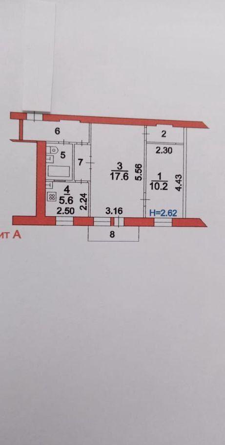 Продажа двухкомнатной квартиры поселок Лоза, цена 2270000 рублей, 2020 год объявление №456037 на megabaz.ru