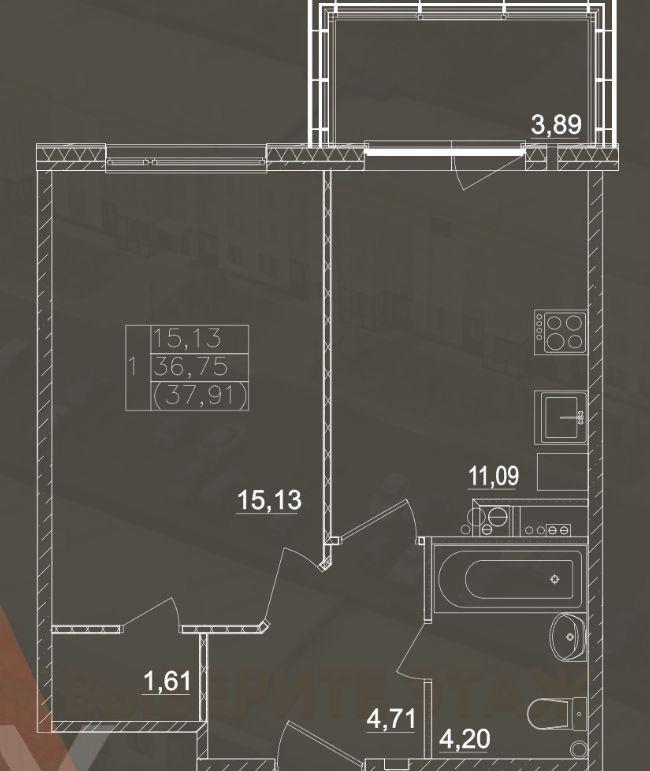 Продажа однокомнатной квартиры село Павловская Слобода, цена 3500000 рублей, 2021 год объявление №414321 на megabaz.ru